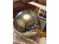 Glass mirror ball 12 inch