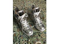 Giuseppe Zanotti Mirror Silver Chained Hi Top Extremely Rare