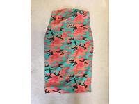 Size 22 multicolour bandeau dress from Boohoo