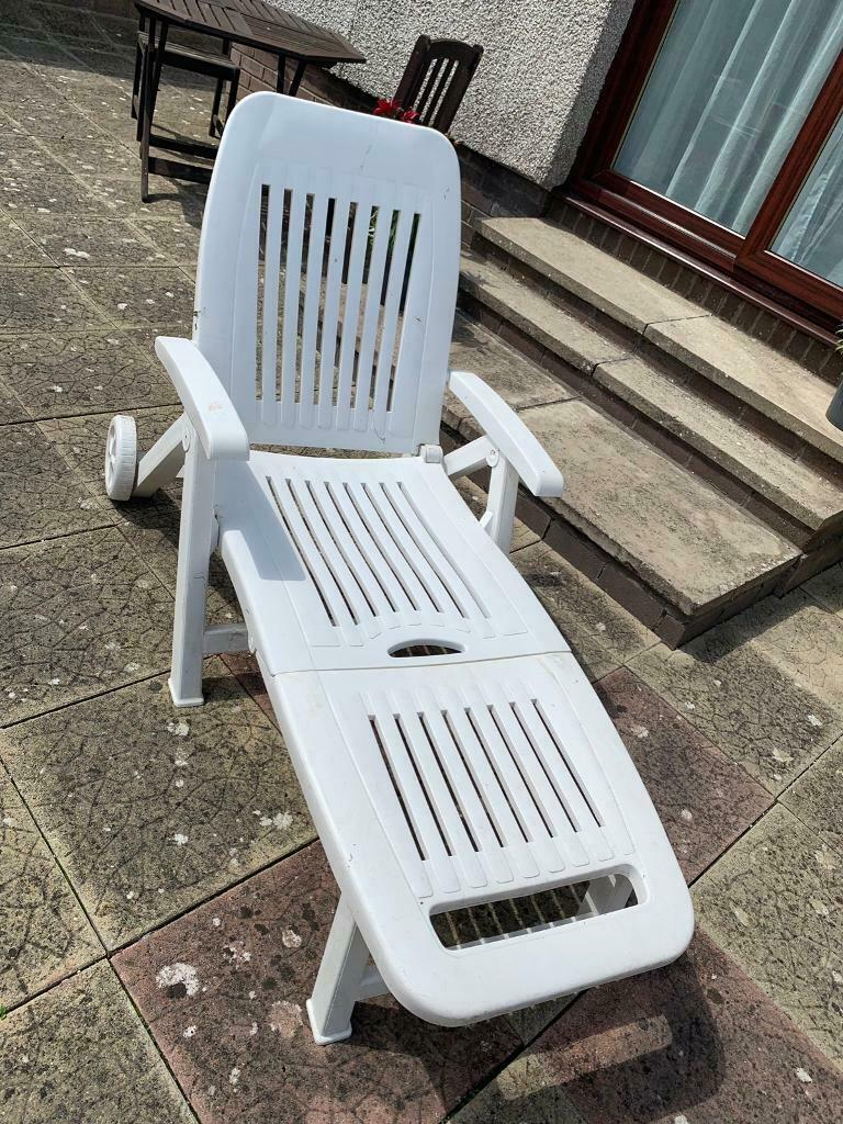 2x Fold Up Sun Loungers With Cushions In Forfar Angus