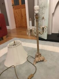lamp with cream shade