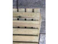 Garden Wooden Decking Tiles ( 15 Tiles in total, 2 Designs)