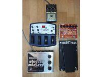 Electro Harmonix, BK Butler, Morley, DOD guitar pedals
