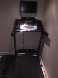 NordicTrack T14.2 Folding Treadmill + Free 20in flat screen TV