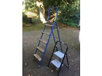 Step ladder and small set of steps
