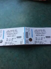 Lush classical tickets for sale 2 x seated sse arena