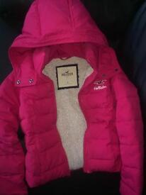 Pink Hollister coat size Small