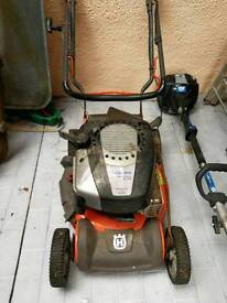 Husquarvarna mulch mower with petrol strimmer