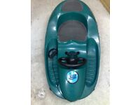 FABULOUS SLEDGE/TOBOGAN WITH WHEEL AND 2 SEATS AND SKIS UNDERNEATH - TOP CONDITION -