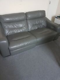 Fully automatic reclining leather sofa