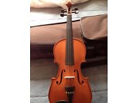 Stentor Student Standard 1018 E 1/2-size violin with case, bow, shoulder rest and two spare strings
