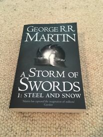 George RR Martin A Storm Of Swords 1: Steel And Snow - A Song Of Ice and Fire book