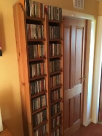 2 Solid Pine CD Towers