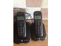 2 x bt cordless phones