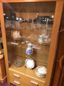 6ft tall glass display cabinate