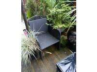 4 piece black garden furniture