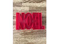 """LED Light up Christmas """"NOEL"""" letter sign"""