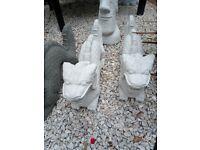Large Handmade Concrete Dragon Garden Statue
