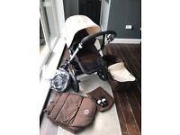 Bugaboo Cameleon 3 Dark Brown and Beige Plus Extras (Pram Stroller Pushchair Travel System)