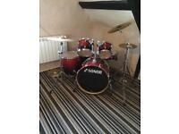 DRUMKIT Special Edition Sonor Force 2007 (Birch) Amber fade 5 Piece w/Tama Iron Cobra Dble Pedal