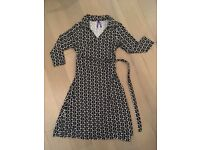 John Lewis Seraphine Maternity Wrap Dress Size 10, worn once