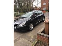 Black Peugeot 307 1.6 Diesel 5 Doors Only 80,000 miles