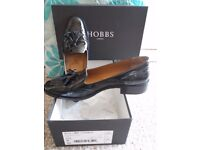 Hobbs Black Patent Leather Guildford Loafers - Size 39 (6)