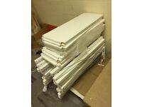 White shelving units - 6 matching