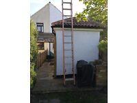 24ft extension ladders, fiberglass, easy pull