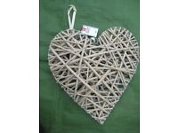 Hanging Wicker Heart