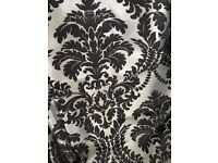New Black and Silver Made to Measure Damask Curtains