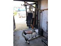 Multi gym weights machine.