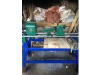 Coronet No3 lathe and Record lathe bench