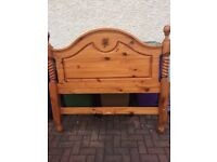 Stunning Carved Double Pine Bedframe