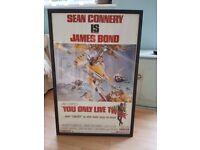 Framed James Bond 'You Only Live Twice' Poster