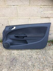 Corsa d 2011 3 door drivers side door card vgc 07594145438