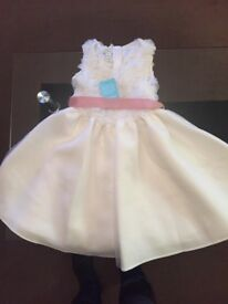 Girls age 6 dress, size 11 shoes and a bag