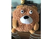 Brown Micro-Fibre Bear Decorative Round Teddy Bear Soft Toy, Furniture