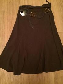 Brown Wallis skirt size 12