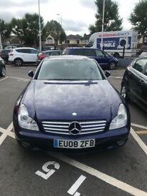 Mercedes Benz's cls blue