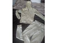 Ladies genuine LIPSY tracksuit size 8 pale lemon in colour