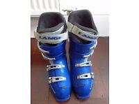 Lange blue ski boots size 27.5