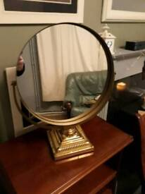 Georgian brass swivel mirror