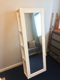 IKEA wall mirror with behind storage In White
