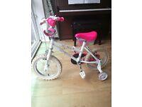 "14"" girl's bike"