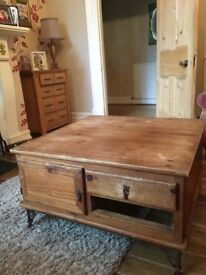 Rustic Mexican style Coffee Table in need of refurbishment