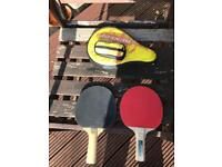 Table tennis bats with case x2