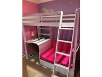 Cabin Bed with built in desk.