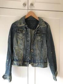 Guess distressed denim jacket size 10-12