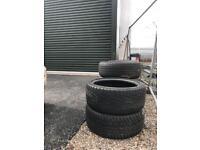205/45/17 part worn mini tyres including run flats